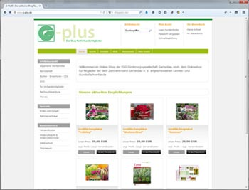 g-plus Online-Shop